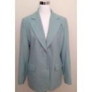 Neiman Marcus Jacket 10 VTG Blue Wool Long Sleeve